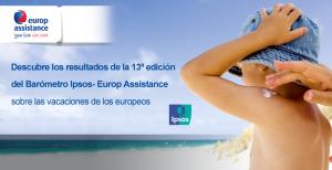 Barómetro Vacaciones de los europeos Europ Assistance